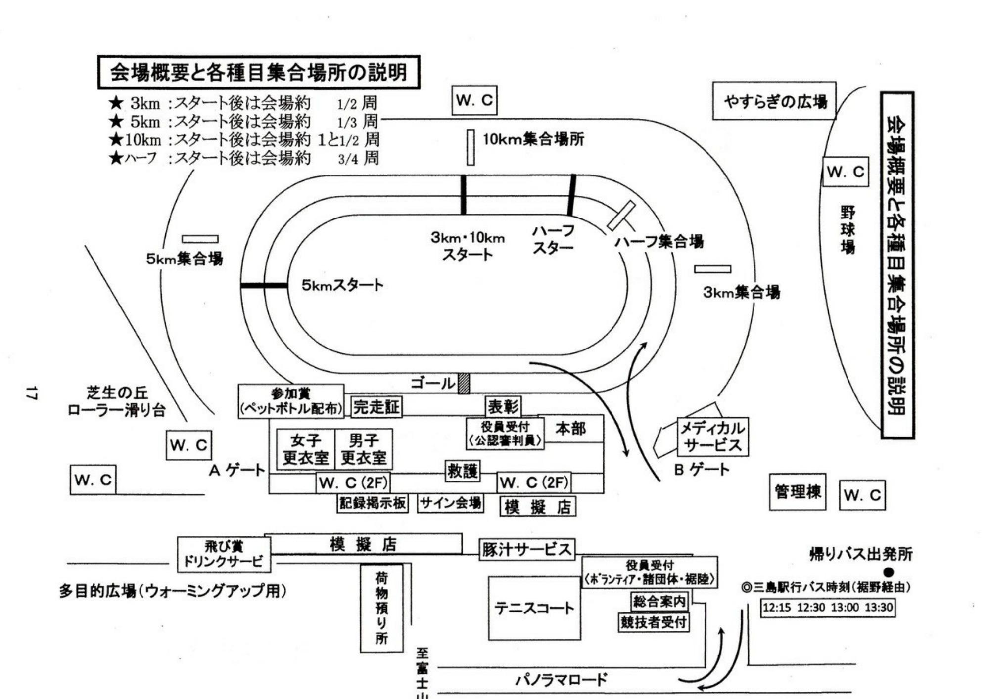 富士裾野高原マラソン会場アクセスマップ